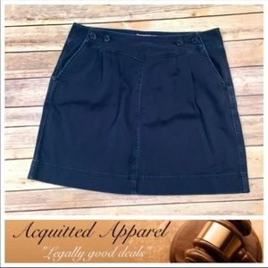 Vineyard Vines Navy Blue Classic Skirt Pockets